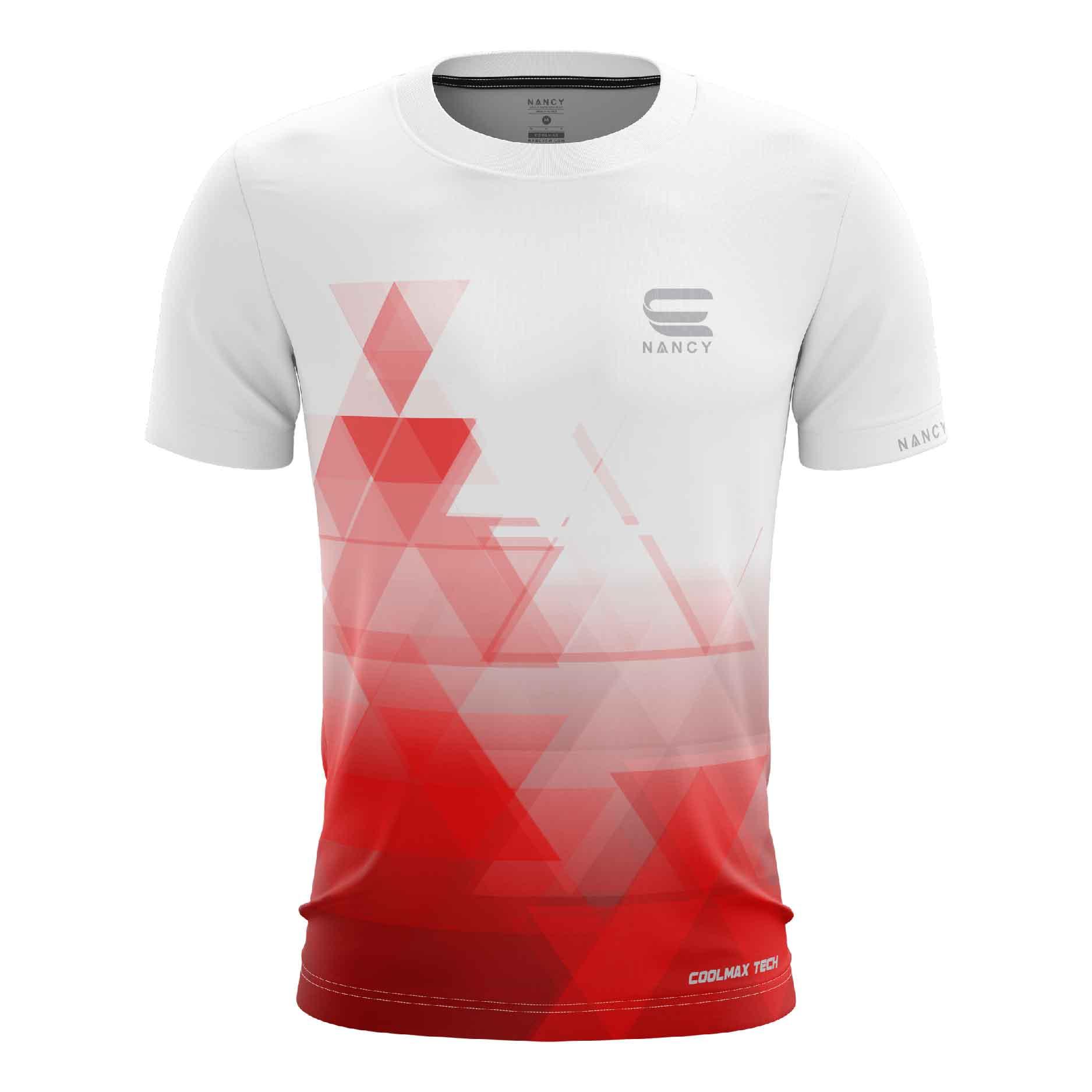 Áo Chạy bộ nam màu đỏ thiết kế RNT006