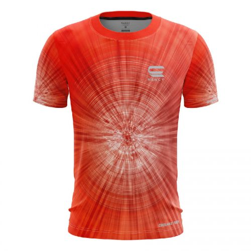 Áo Chạy bộ nam màu đỏ thiết kế RNT009